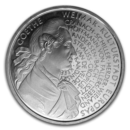 Münze 10 Deutsche Mark 1999 Goethe Wert Ausreise Info