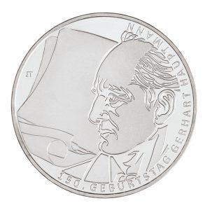BRD, 10 Euro 2012 150. Geburtstag Gerhart Hauptmann, st (CuNi, 14g, Ø 32,5mm), PP (625er Silber, 16g, Ø 32,5mm), Jaeger-Nr. 575