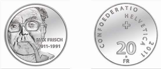 Schweiz 20 Franken 2011, 835er Silber, 20g, Ø 33mm, st Auflage: 50.000, PP Auflage: 7.000