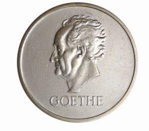 "Weimarer Republik, 5 Reichsmark 1932 ""100. Todestag Goethes"", 500er Silber, 25g, Ø 36mm, Prägestätten ADEFGJ (Berlin, München, Muldenhütten, Stuttgart, Karlsruhe, Hamburg), Jaeger-Nr. 351"