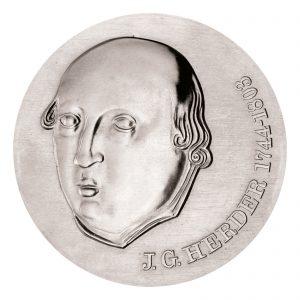 DDR 20 Mark 1978 175. Todestag Johann Gottfried von Herder , 500er Silber, 20.9g, Ø 33mm, Prägestätte A (Berlin), Auflage: 50.550 (PP: 4.500), Jaeger-Nr. 1570