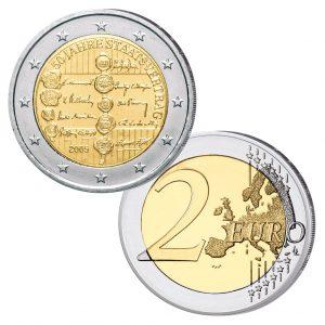 """Österreich 2 Euro Gedenkmünze 2005 """"50. Jahrestag des Staatsvertrages"""""""