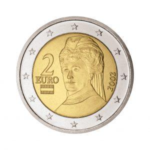 Österreich 2 Euro-Kursmünze ab 2002 Berta von Suttner