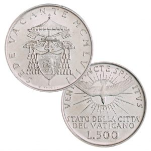 "Vatikan 500 Lire 1958 ""Sedisvakanz"", 835er Silber, 11g, Ø 29,30mm"