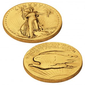 St. Gaudens 20 Dollars Goldmünze 1907 High Relief