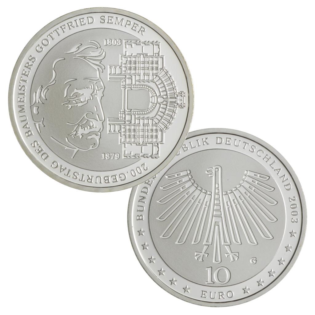 10 Euro Münzen Aus Deutschland 2003 Primus Münzen Blog