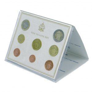 "Vatikan offizieller Kursmünzensatz 2005 ""Sedisvakanz"", 1 Cent . 2 Euro, 8 Münzen, im Blister, Auflage: 60.000"