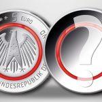 BRD 5 Euro 2017 mit rotem Polymerring, Beispielbild - Motiv steht noch nicht fest