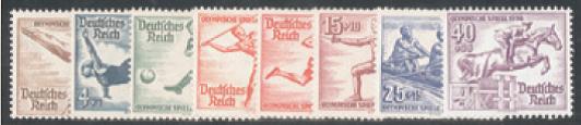 Deutsches Reich 609/16 (Ausgabe 9. Mai 1936)