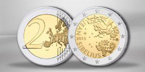 "Finnland 2 Euro Gedenkmünze 2015 ""150. Geburtstag Sibelius"""