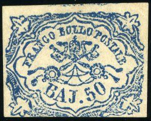 Kirchenstaat Mi.Nr. 10 (erschienen 1852/1864) – Michelwert € 17.000,-