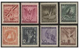Österreich Mi.Nr. 776/83 postfrisch (erschienen am 16. September 1946)
