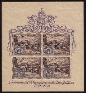 Vatikan Block 1 (erschienen am 9. Juni 1952)