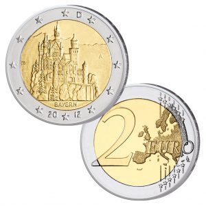BRD 2 Euro-Gedenkmünze 2012 Neuschwanstein