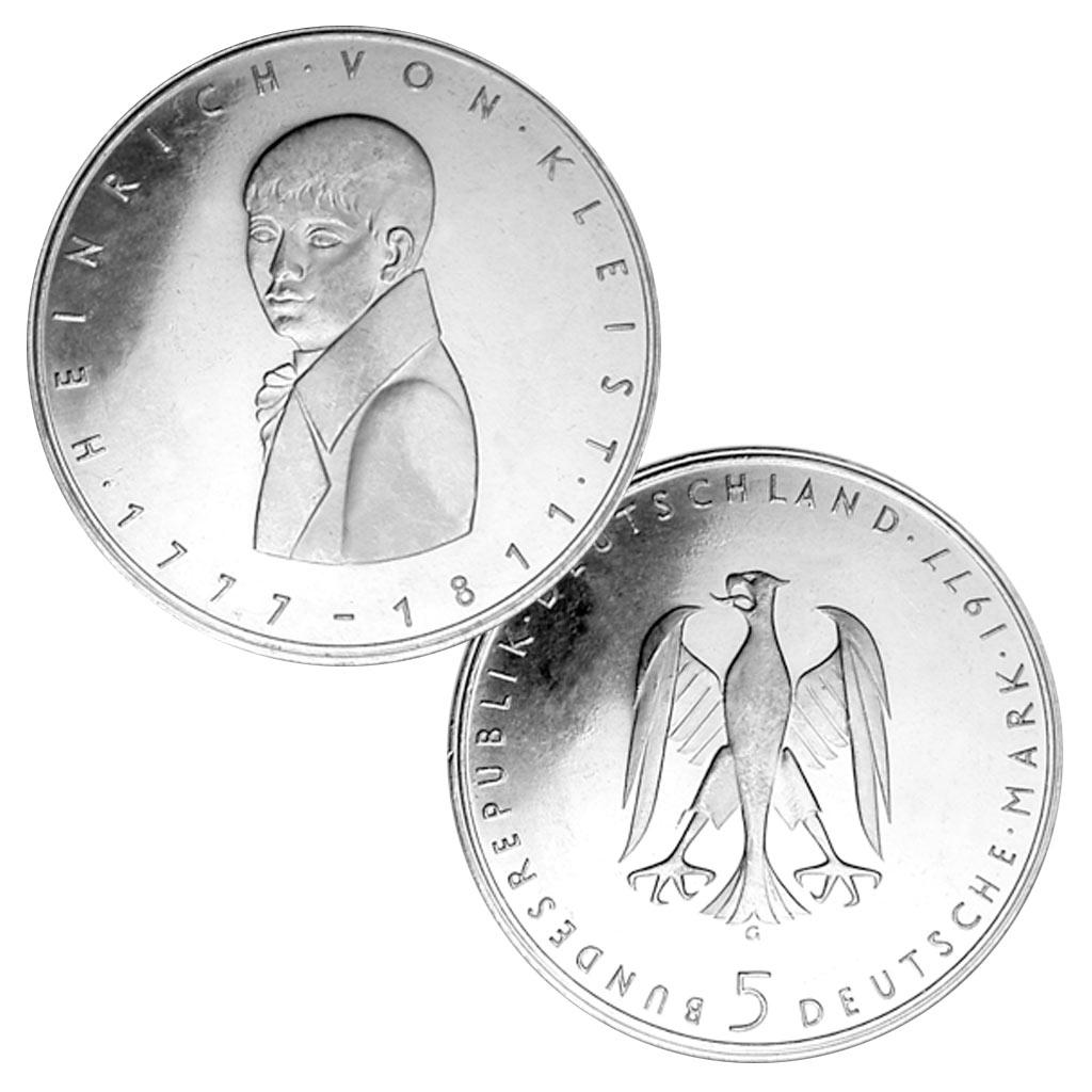 18 Oktober 1777 Heinrich Von Kleist Wird Geboren Primus Münzen Blog
