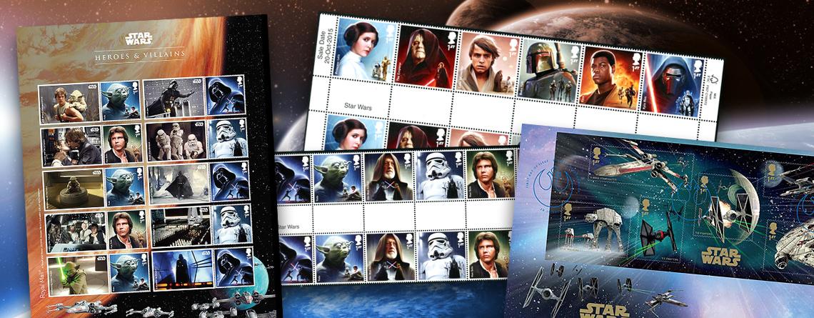 Briefmarken zum Thema Star Wars - Krieg der Sterne