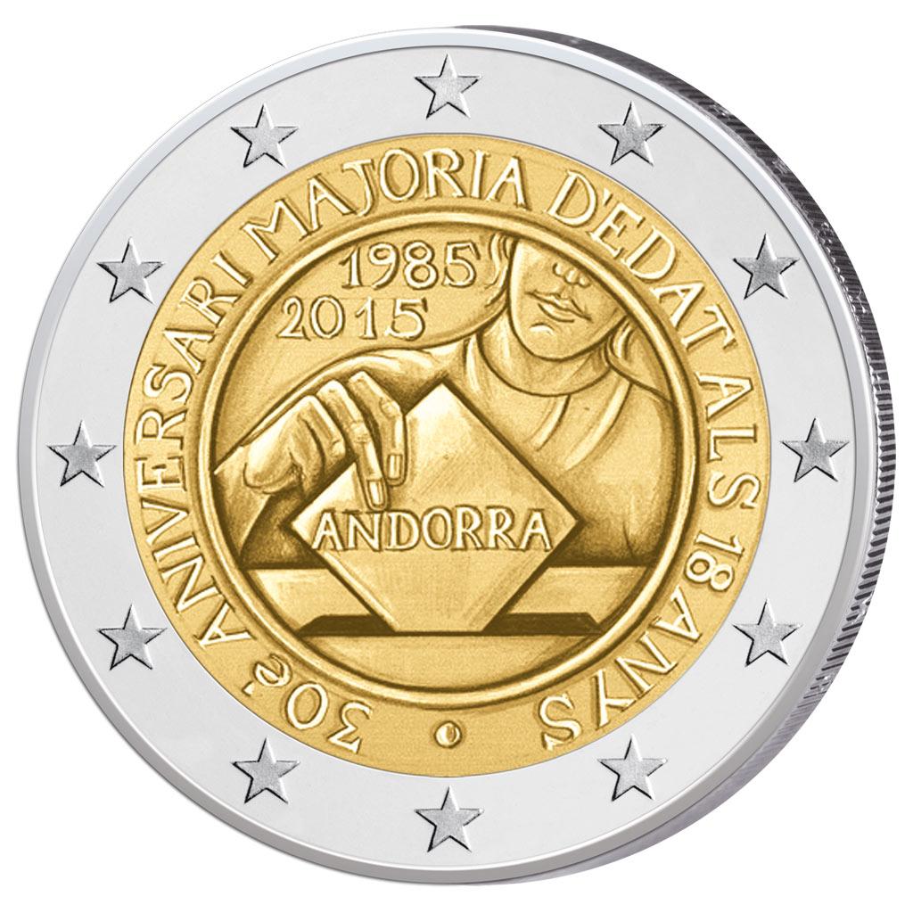 2 Euro Münzen 2016 Andorra Ausreise Info