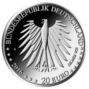 BRD 20 Euro 2016 Grimms Märchen - Rotkäppchen