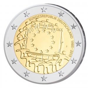 """Motiv der 2 Euro-Gemeinschaftsausgabe 2015 """"30 Jahre Europaflagge als Symbol der Europäischen Union"""""""