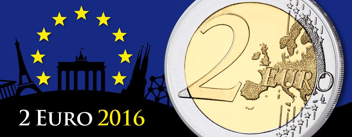 2 Euro Gedenkmünzen 2016 – Münzbilder und Informationen