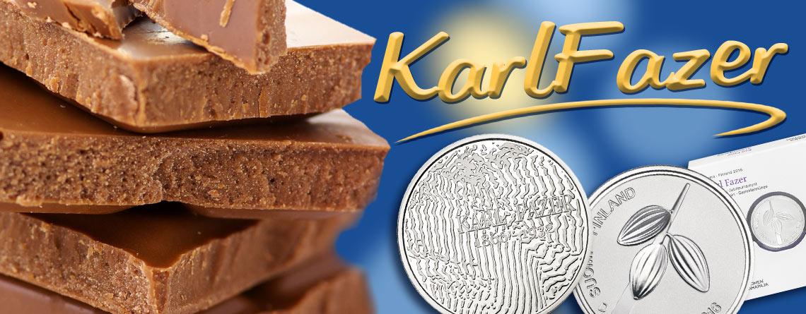 Finnland veröffentlicht Gedenkmünzen zu Ehren des Bäckers, Konditors und Chocolatiers Karl Fazer