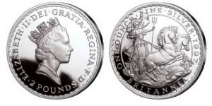 Großbritannien Britannia 1 Unze Silber 1997