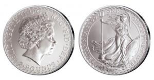 Großbritannien Britannia 1 Unze Silber 2000