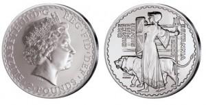 Großbritannien Britannia 1 Unze Silber 2001