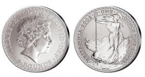 Großbritannien Britannia 1 Unze Silber 2002