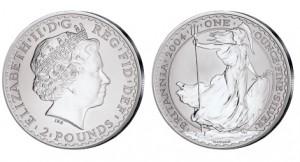 Großbritannien Britannia 1 Unze Silber 2004