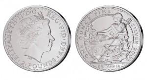 Großbritannien Britannia 1 Unze Silber 2005