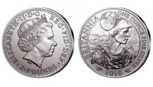 Großbritannien Britannia 1 Unze Silber 2010