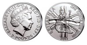 Großbritannien Britannia 1 Unze Silber 2011