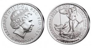 Großbritannien Britannia 1 Unze Silber 2012