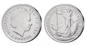 Großbritannien Britannia 1 Unze Silber 2014