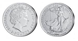 Großbritannien Britannia 1 Unze Silber 2015