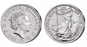 Großbritannien Britannia 1 Unze Silber 2016
