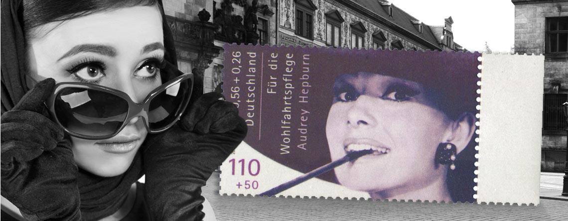 Audrey Hepburn Briefmarken-Rarität