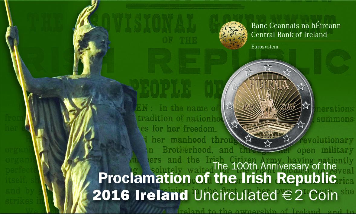 Irland 2 Euro Gedenkmünze 2016 100 Jahrestag Des Osteraufstandes