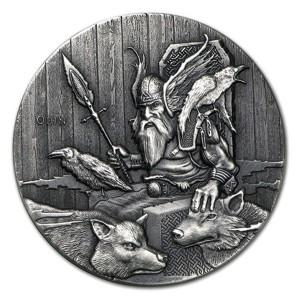 Niue Island 2 Dollars Silbermünze 2015 Wikinger Gott Odin