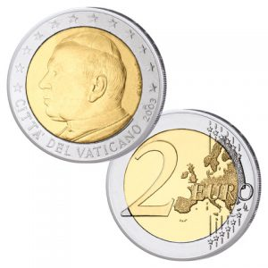 Vatikan 2 Euro-Kursmünze Johannes Paul II.