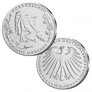 BRD 10 Euro 2015 Dornröschen