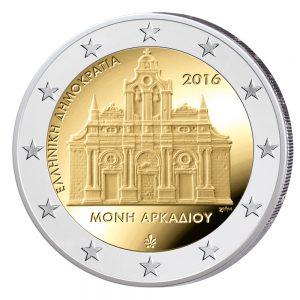 Griechenland 2 Euro-Gedenkmünze 2016 – 150. Jahrestag des Angriffs auf das Arkadi Kloster