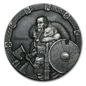 Niue Islands 2 Dollars Silbermünze 2015 Wikinger Herrscherlegende Ragnar