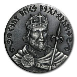 Niue Island 2 Dollars Silbermünze 2015 - Wikinger König Knut