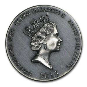 """Gemeinsame Rückseite der Münzen der Serie """"Vikings"""""""