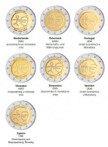 Ländervarianten der 2 Euro-Gemeinschaftsausgabe 2009 10 Jahre Wirtschafts- und Währungsunion (WWU)