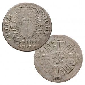 Kurfürstentum Brandenburg, 1/12 Taler 1692-1700, Silber, 3,3g, Ø 26mm