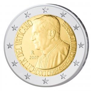 2 Euro-Gedenkmünze 2007 – 80. Geburtstag Benedikt