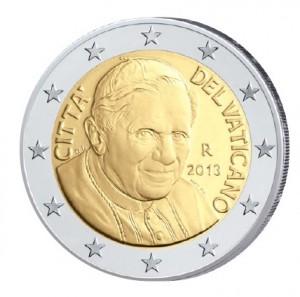 2 Euro-Kursmünze 2006-2013 Papst Benedikt XVI.